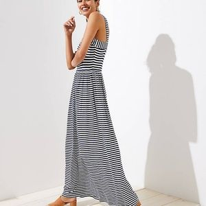 LOFT Striped Strappy Maxi Dress Size: XXSP